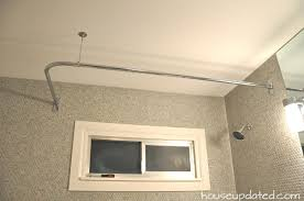 Curtain Rod Shower L Rod In The Shower House Updated