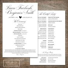 wedding program designs 9 best printable wedding programs images on casamento