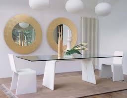 furniture micha modern 175cm extendable red glass dining table