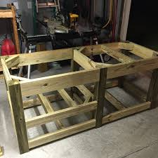 diy grill table plans diy big green egg table with concrete top and barn door the