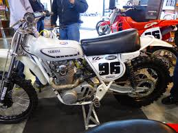 vintage siege oldmotodude yamaha xs650 motocrosser on display at the 2015 siege