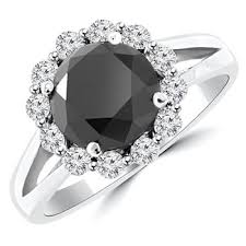 black band engagement rings 3 5 carat fancy black diamond halo engagement ring