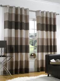 Eyelet Curtains Ready Made Curtains Rio Chocolate Brown In Faux Silk