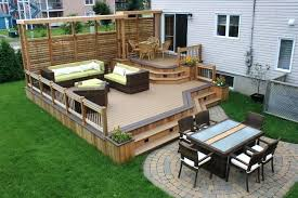 Deck With Patio Designs Two Level Backyard Deck Ideas Backyard Deck Ideas With Pool