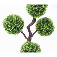 Artificial Boxwood Topiary Trees 90cm 3ft Large Artificial Plant Boxwood Realistic Topiary Tree 4