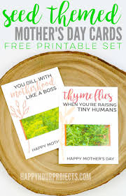 seed cards craft lightning s day crafts seed packet cards happy