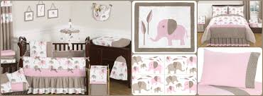 pink mod elephant baby and kids kids bedding sets
