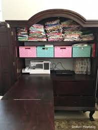 diy craft armoire with fold out table i made this out of an old suitcase it saves me from going up and