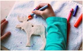 melted crayon salt dough ornaments a new way to decorate a favorite