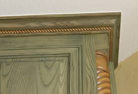 kitchen cabinet top trim you can also add wider crown molding to