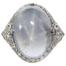 cartier art deco star ruby diamond platinum ring at 1stdibs