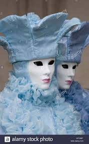 carnevale costumes two wearing blue costumes and masks carnevale di