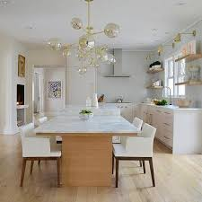 kitchen island with drop down dining table design ideas