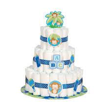 boy monkey baby shower diaper cake kit boy baby shower decorations