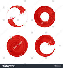 set red round element design japan stock vector 367481795