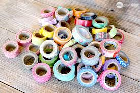 Garage Sale Organizers - diy washi tape cereal box organizers one good thing by jillee