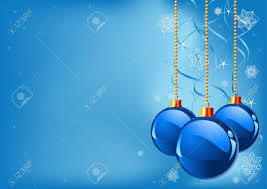 Blue Christmas Decorations Images by Abstract Blue Christmas Background With Christmas Decorations