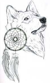 dreamcatcher wolf sketch best designs