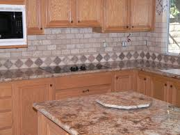 Cute Kitchen Decor by Decorating Oak Kitchen Cabinets With Tile Kitchen Backsplashes