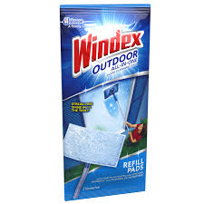 windex outdoor all in one glass cleaning tool refill 2 count