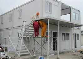 waterproof prefab steel temporary storage containers portable