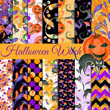 halloween digital paper halloween witch pattern witch paper pack