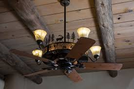 Lodge Ceiling Fans With Lights And Rustic Oversized Lantern Chandeliers Lighting Built In