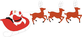 santa sleigh and reindeer reindeer sleigh clipart clipart collection santa and his