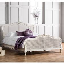 frank hudson chic chalk with cane king size bed elegant french