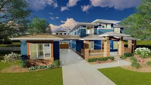 Prairie Style Architecture Prairie Style House Plan With Porte Cochere 62561dj