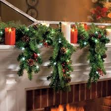 ft led lighted battery operated cascading garland