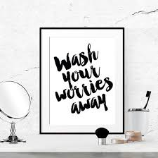 Bathroom Quotes For Walls 40 Off Bathroom Quotes Black And White By Luciaandluciana On Etsy