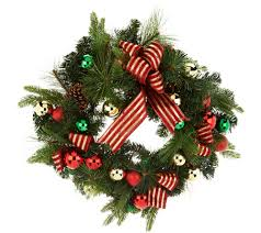 wreaths u0026 garlands u2014 christmas u2014 holiday u2014 for the home u2014 qvc com