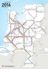 Marta Train Map Dutch Railways Line Frequency Map By Treinreiziger Nl Map