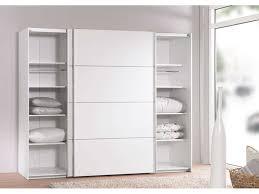armoire chambre portes coulissantes armoire 2 portes coulissantes 240 cm verona coloris blanc vente de