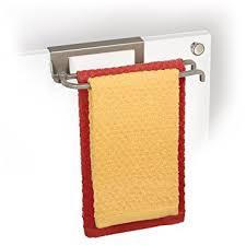 over cabinet door towel bar amazon com lynk over cabinet door pivoting towel bar satin