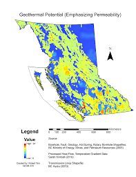 Map Of Bc Potential Geothermal Power Plant Sites In Bc