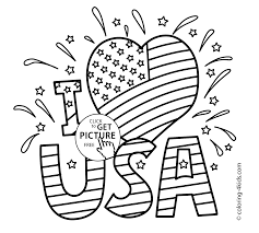 Usa Coloring Pages Exquisite Design Usa Coloring Pages I Love Usa July 4 Independence by Usa Coloring Pages