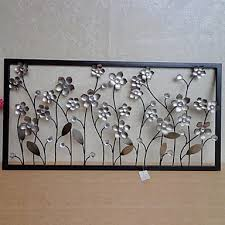 Metal Flower Wall Decor - e home metal wall art wall decor silver flower wall decor for