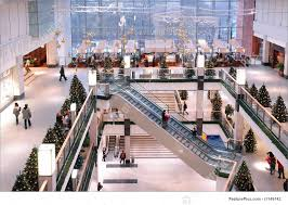 Christmas Decorations For Shopping Centers by Shopping Center At Xmas Time Stock Picture I1149742 At Featurepics