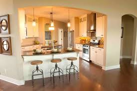 Galley Kitchen Design With Island Popular Kitchen Design Island Or Peninsula Railing Stairs And