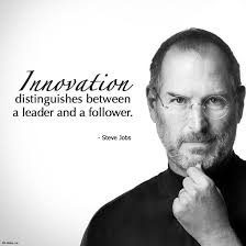 quotes leadership strategy innovation distinguishes between a leader and a follower steve