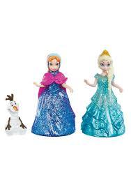 disney frozen elsa anna olaf glitter glider figure pack