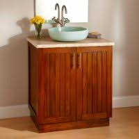 Bathroom Vanity With Vessel Sink by Bathroom Un Varnish Wood Vanity Cabinet With Towel Shelf Plus