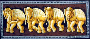 batik indian elephant wall hanging tapestry ethnic india home