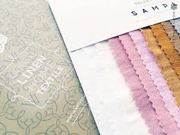 set of linen fabric samples swatches light medium linen fabric