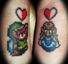 15 awesome couples u0027 tattoos pop culture edition ariel and eric
