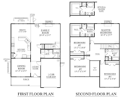 2 story house floor plans with garage interior design