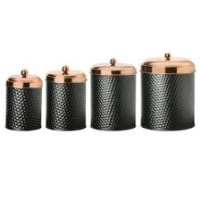 copper canister set kitchen hammered copper canister set wayfair