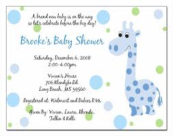 and wording with image blue colors baby shower invitations